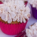 Spiced Rum Sweet Potato Cupcakes w/ Cinnamon Browned Butter Fluff Frosting…