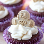 Gingerbread Cupcakes with Caramel Icing