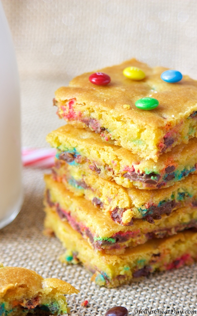 M Amp M Cookie Bars Holly S Cheat Day