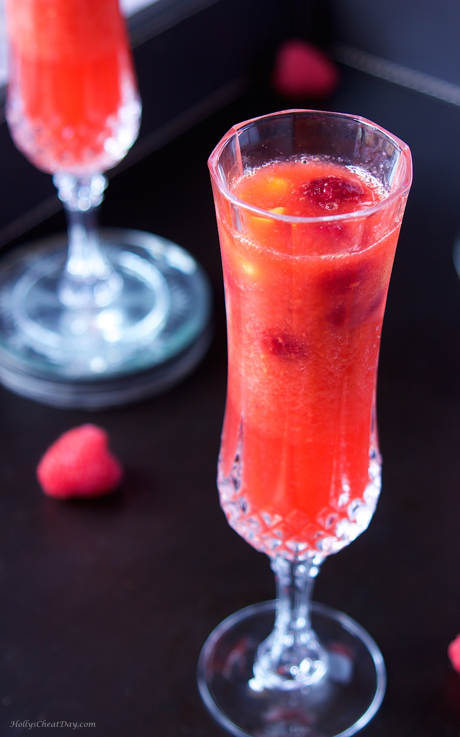Raspberry Mango Bellinis - HOLLY'S CHEAT DAY