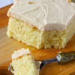 Browned Butter Cake w/ Browned Butter Frosting