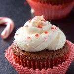 REPOST- Candy Cane Frosted Chocolate Cupcakes