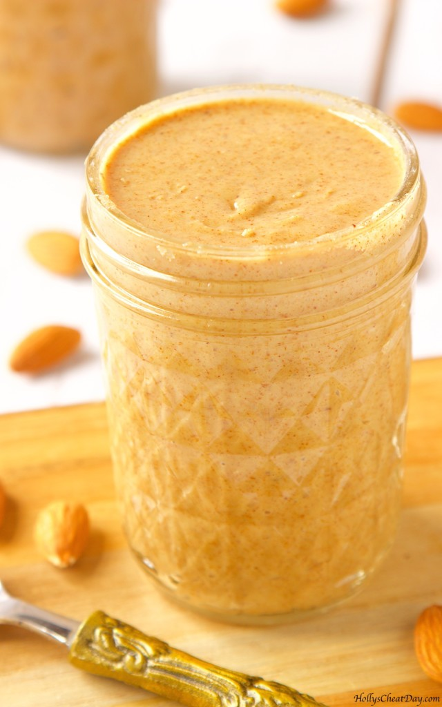 how-to-series-homemade-almond-buttercls| HollysCheatDay.com