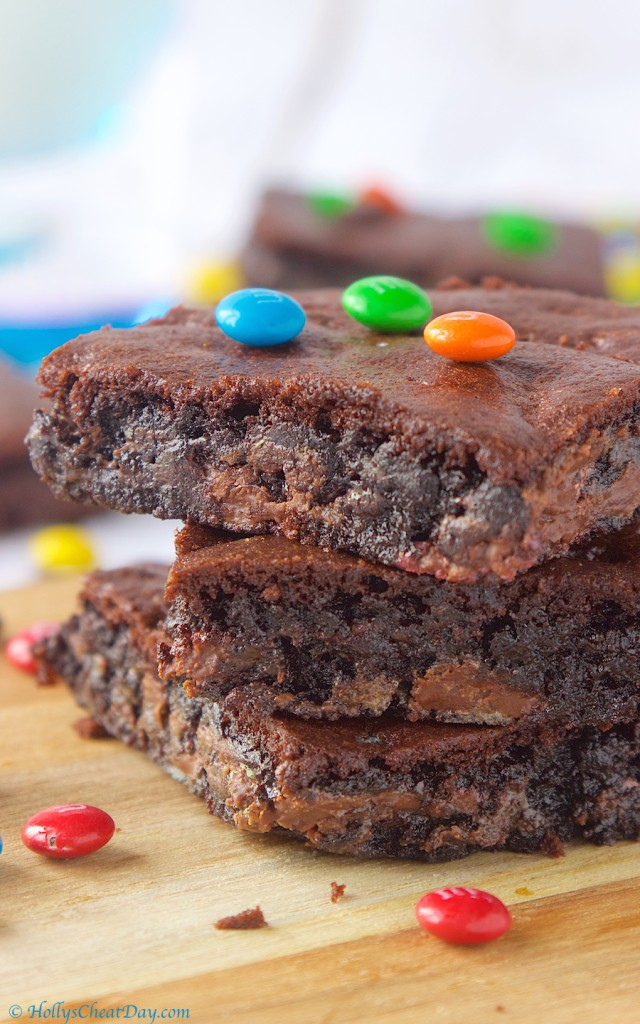 chocolate-cake-mix-cookie-bars| HollysCheatDay.com