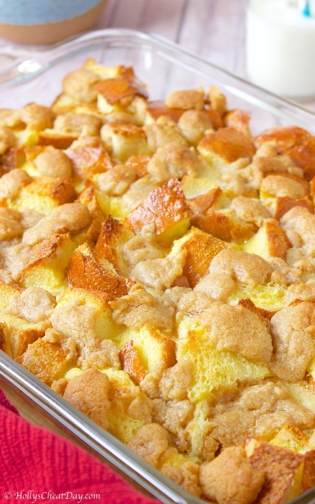easy-french-bread-pudding| HollysCheatDay.com