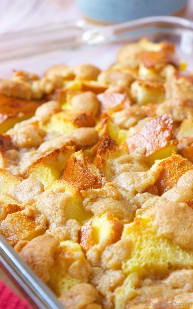 easy-french-toast-bread-pudding| HollysCheatDay.com
