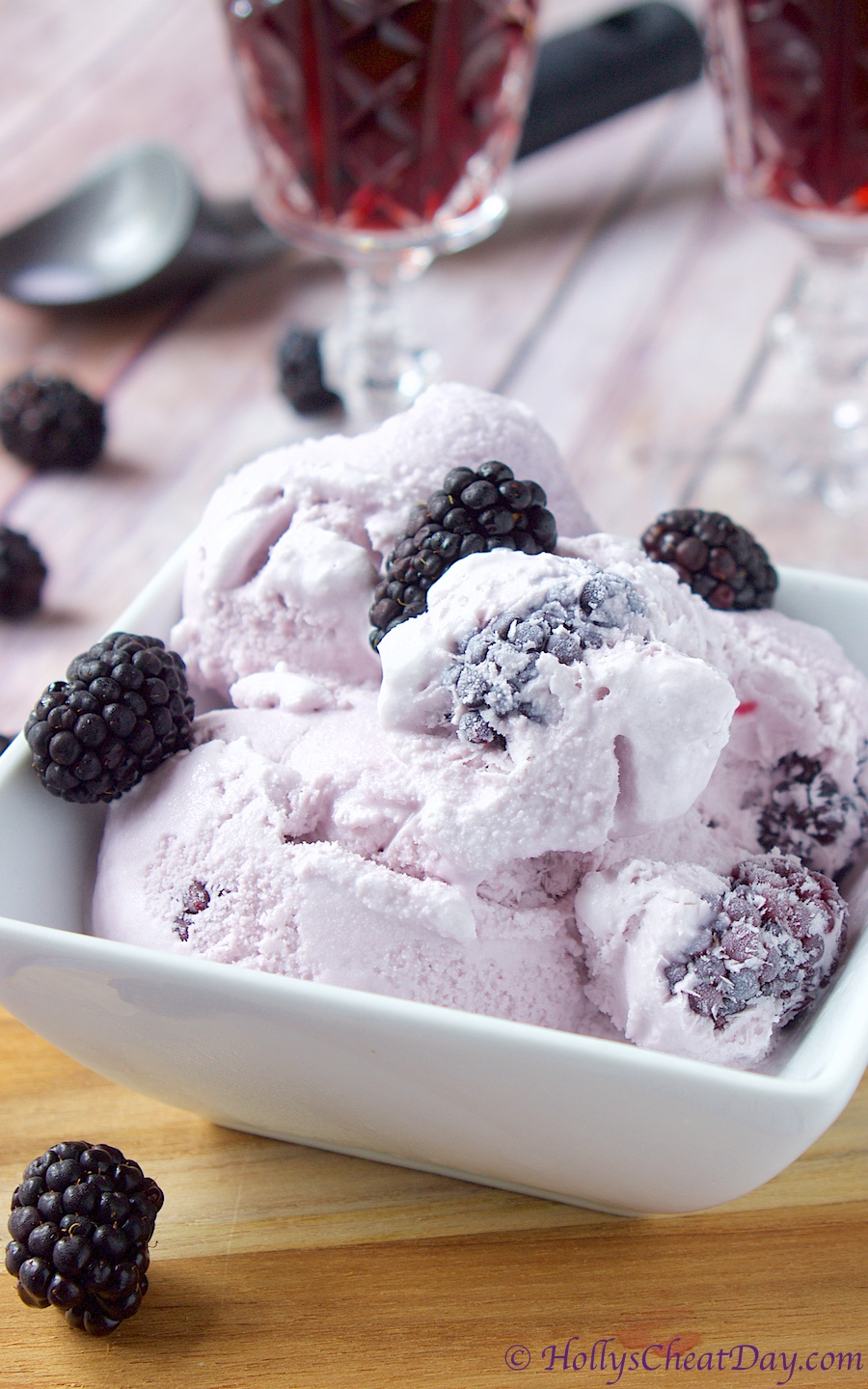 Blackberry Wine Ice Cream Holly S Cheat Day
