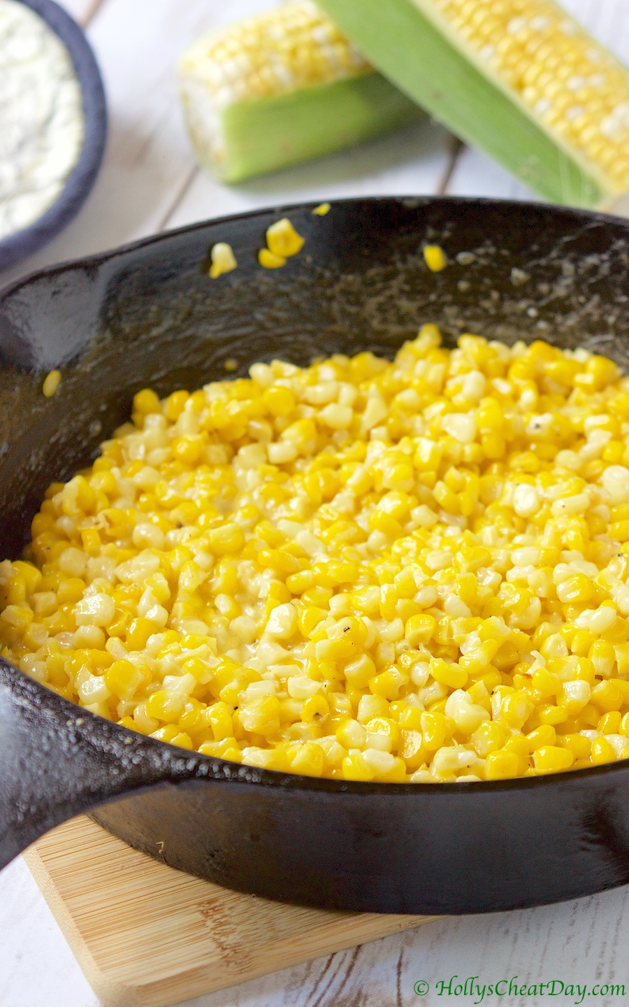 Summer Southern Series: Skillet Fried Corn - HOLLY'S CHEAT DAY