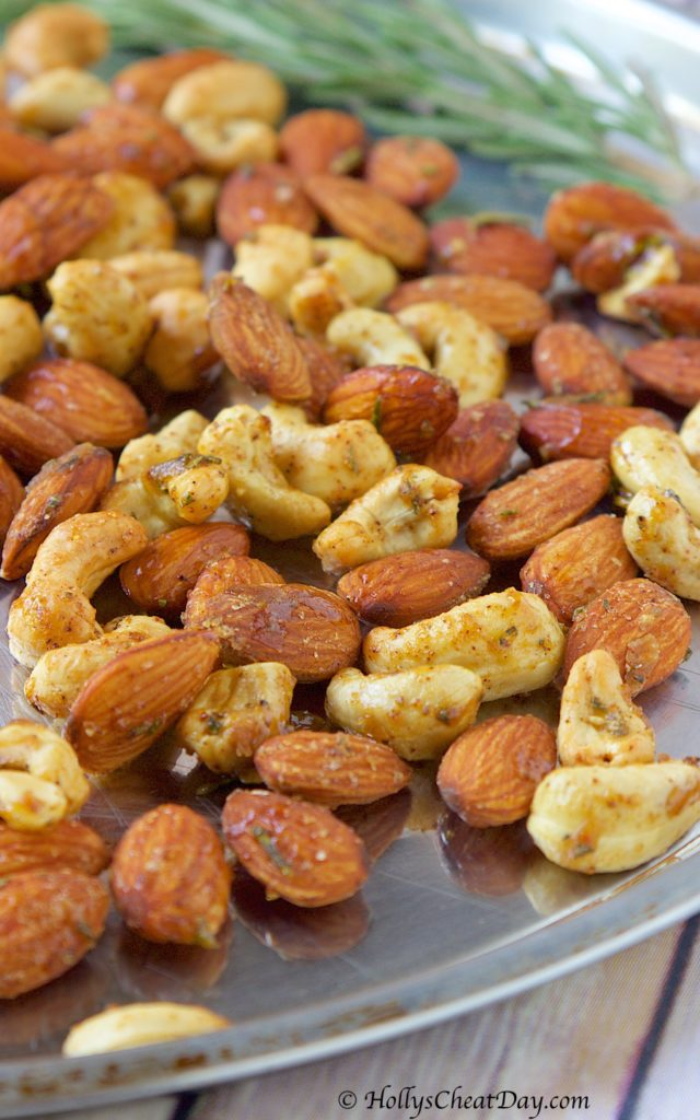 roasted-spicy-maple-rosemary-nuts | hollyscheatday-com