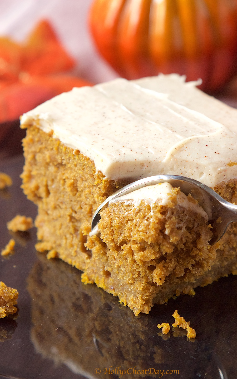 Easy Pumpkin Pie Cake - HOLLY'S CHEAT DAY