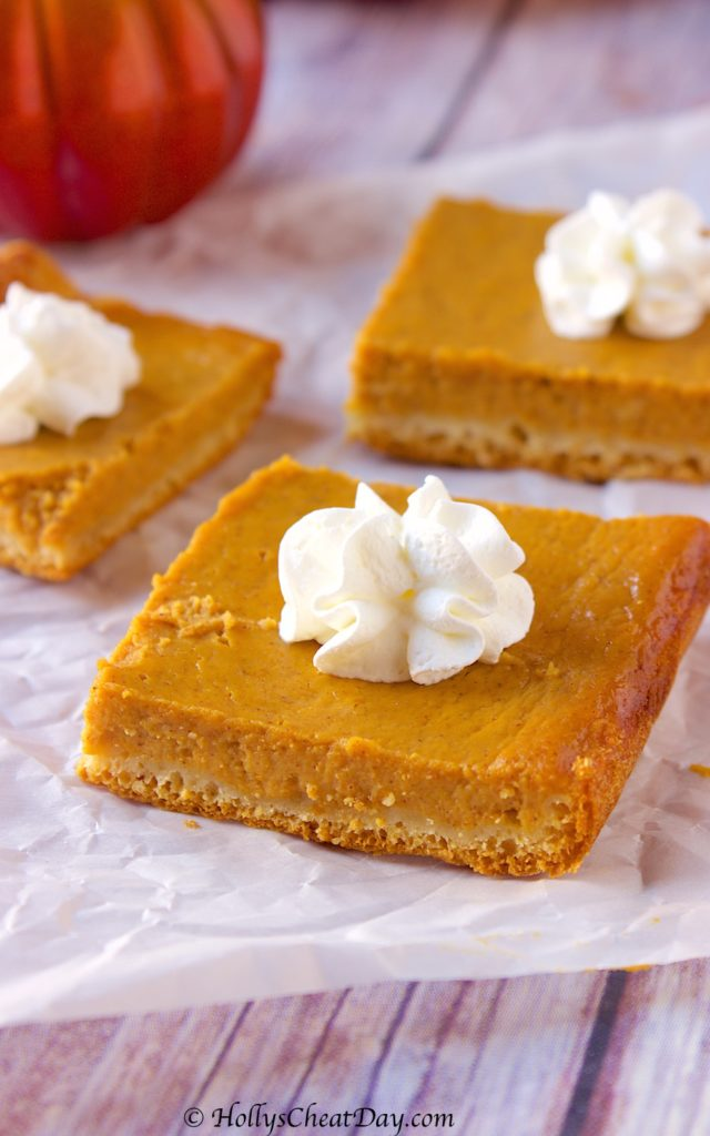 Easy Pumpkin Pie Bars Holly S Cheat Day