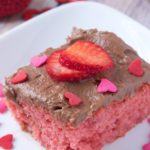 Strawberry Cake With Whipped Chocolate Frosting