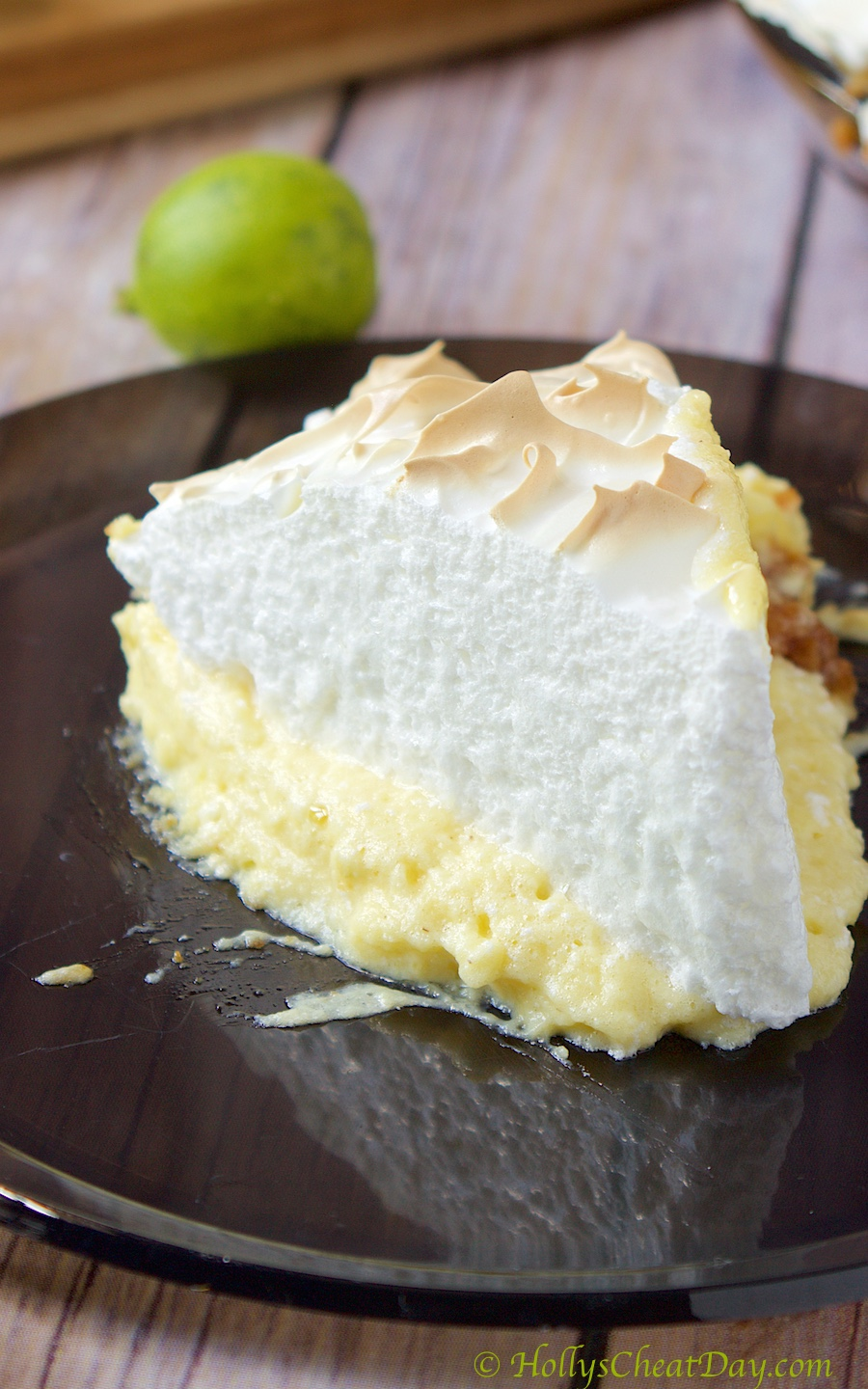 Key Lime Meringue Pie - HOLLY'S CHEAT DAY